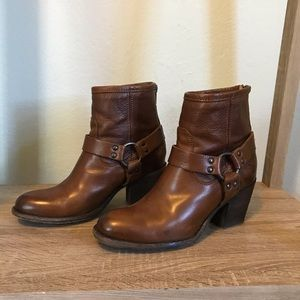 Frye Saddle Brown Ankle Boots